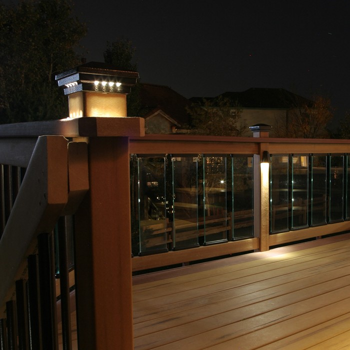 Pyramid Post Cap With Lights Led Deck